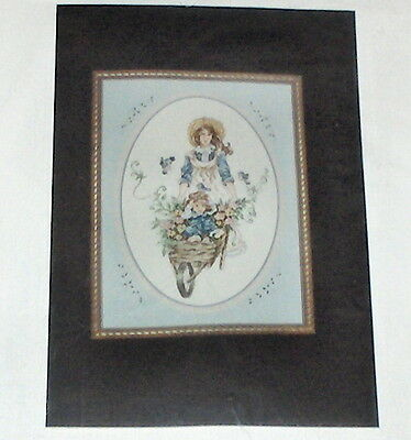 "Janlynn Counted Cross Stitch Kit 8/""X10/""-Wildflower Jar 14 Count"