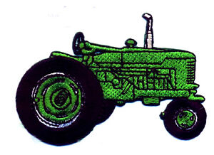 Tractor-Farm-Green-Fully-Embroidered-Iron-On-Applique-Patch