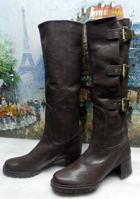 Stuart Weitzman Cinch Boo Tall Buckle Stiefel - Größe 5.5M -  745