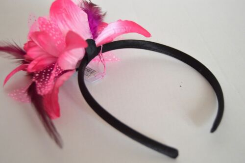 NEW Pink Layered Flower Fascinator Alice Band Headband Wedding Prom