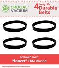 4 REPL Durable Hoover Elite Rewind Vacuum Belts Part # 40201190 & 38528040