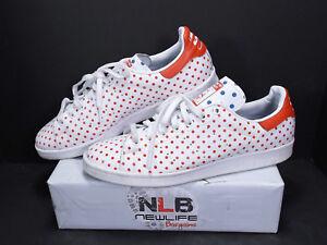 Adidas-Originals-Pharrell-Williams-STAN-SMITH-SPD-B25401-Red-White-Size-12