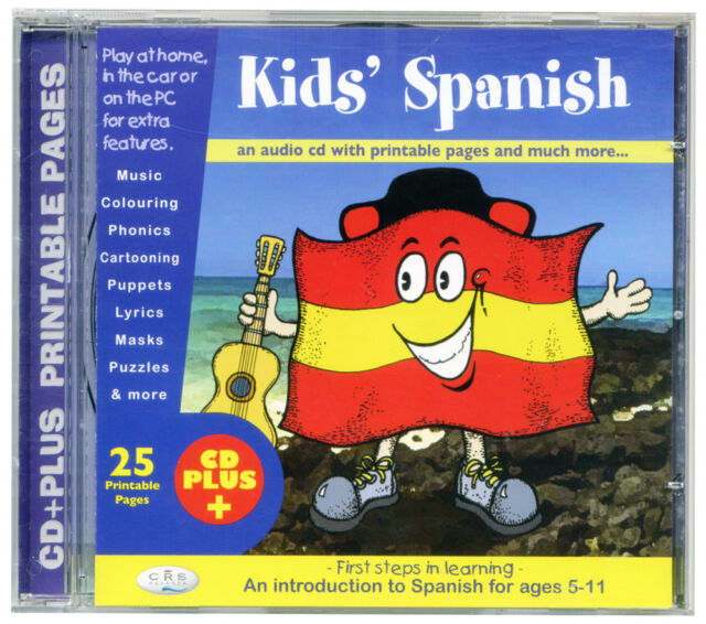 KIDS SPANISH (CD audio & rom) First language learning cd. Age 5+ NEW & WRAPPED