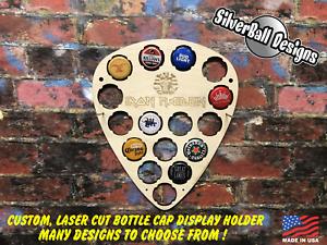Guitar-Pick-Custom-Beer-Pop-Cap-Holder-Collection-Display-Iron-Maiden-Metal-Rock