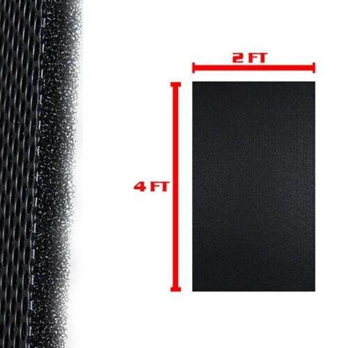 """DJ Speaker Woofer Cabinet Grill Foam 2/' Wide x 4/'Long x 3//8/"""" Thick Black"""