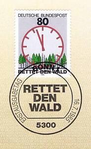 BRD-1985-Rettet-den-Wald-Nummer-1253-mit-Bonner-Ersttagssonderstempel-1A-156