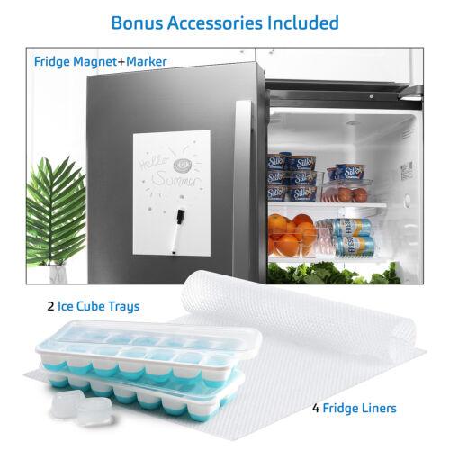16 PC Refrigerator Organizer Bins Clear Storage Bins for Pantry or Freezer Bins
