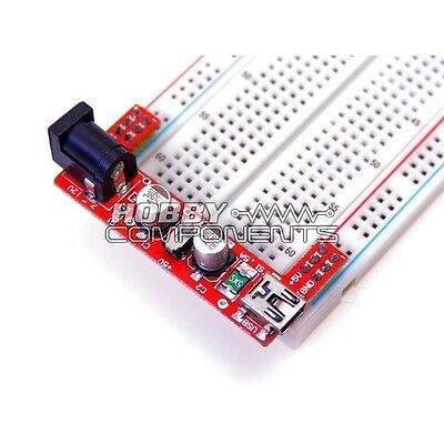 """Red Wings"" Breadboard power supply module 5V/3.3V for MB102 Bread board"