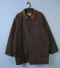 Vintage LL Bean Wax Jacket in Olive Green Hunting Outdoor Coat Large