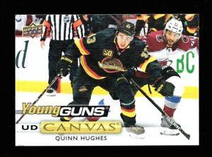 2019-20-Upper-Deck-Series-2-Young-Guns-Canvas-Rookie-211-Quinn-Hughes-Canucks