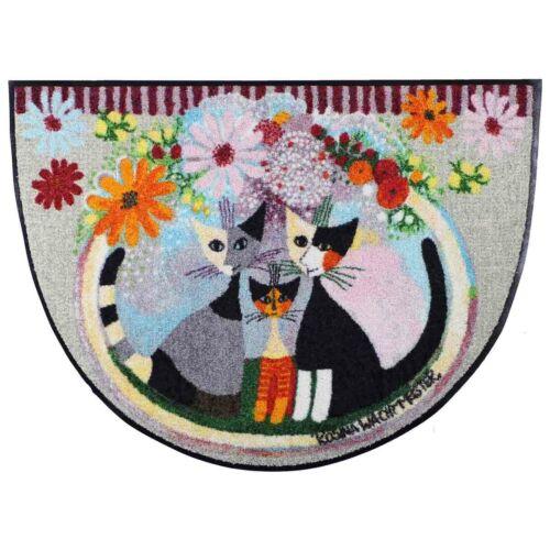 Rosina policier Famiglia vendeur Fiore demi-cercle Paillasson 60 x 85 cm türmatte