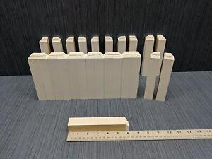 Details about 25 x Primed Poplar Baseboard Moulding Inside Corner Block 6in  x 1in