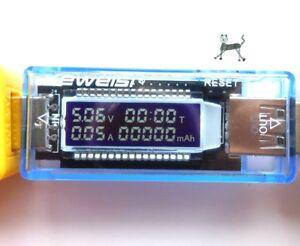 Keweisi-KWS-V20-USB-Tester-mit-Anzeige-Spannung-Strom-Zeit-Kapazitaet