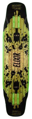 MOONSHINE Elixir Black//Green Longboard Deck