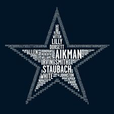 T Shirt NFL Dallas Cowboys All Players Names100% Cotton Man/woman Cool And Funny