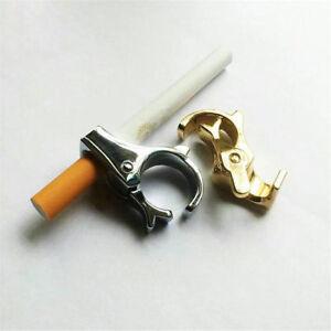 Metal-Ring-Finger-Hand-Rack-Cigarette-Holder-Regular-Smoking-Smoker-Silvery-Free