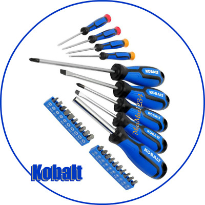 Chrome Vanadium Kobalt 29-Pc Screwdriver Bit Set Precision Magnetic Bit Holder