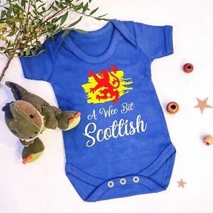 Kids A Wee Bit Scottish T Shirt Boys Girls Scotland Thistle Flag Dragon Gift Top