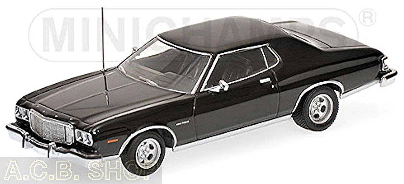 L'achat en deux parties est poli, très satisfait Ford Torino 3. série de 1972-76 noir noir 1:43 Minichamps | Stocker  | De Gagner Une Grande Admiration