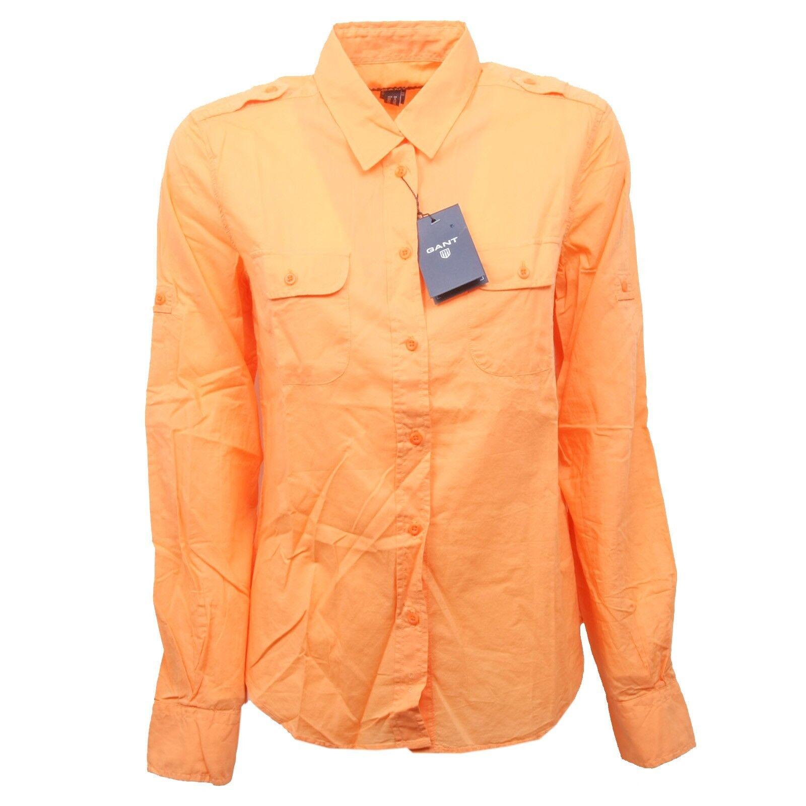 B8074 camicia manica lunga donna GANT arancione shirt Donna