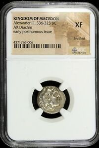 KINGDOM-OF-MACEDON-Alexander-III-AR-DRACHM-NGC-VF-336-323-BC-XF-B16933