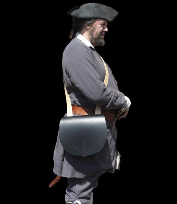 Early 17th o 18th Century cuero bolsa recreación Larp Granaderos