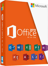 Microsoft Office 2016 Pro Plus 32/64 Bits - Licencia Oficial - Multilenguaje 1PC