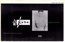 """1/8/87pg49 Single Advert 6x10"""" A R Kane, Lollita"""