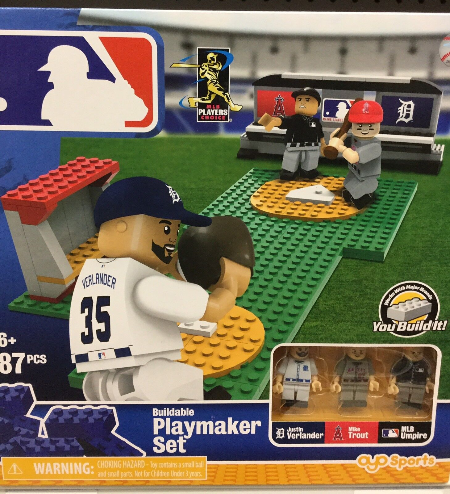 MLB LEGO Playmaker Set. Verlander Vs. Trout. Brand Nuovo. 87 Pieces