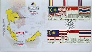 Malaysia FDC with Stamps (23.08.2013) - Tri-Nation 3rd Stamp Exhibition