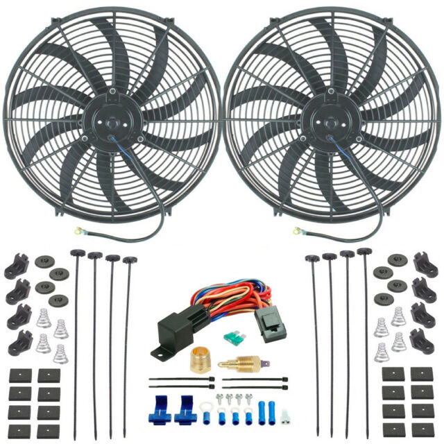 Dual 16 Inch Electric High Flow Slim Radiator Fans 1 2 3