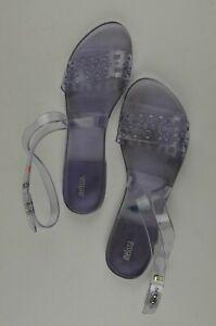 Melissa-Women-039-s-Clear-Rubber-Sandals-Size-10-Open-Toe-Ankle-Strap-Casual-Boho