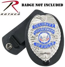 Leather Badge Holder Detective Belt Neck Hanger Chain Law Security Enforcement