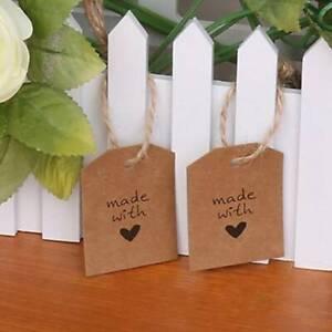 100X-Kraft-Paper-Gift-Hang-Tags-Wedding-Scallop-Label-Blank-Luggage-Xmas-String