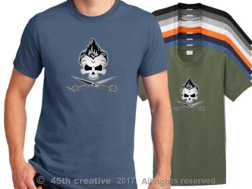 hair stylist skull t-shirt hair cutting shirt hairdresser shirt Barber T Shirt