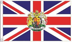 United Kingdom Union Jack Royal Crest 5/'x3/' Flag