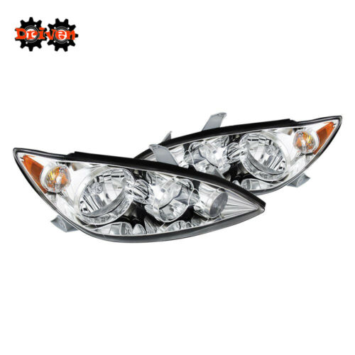 For 2005-2006 Toyota Camry Chrome Euro Headlights Replacement Lights