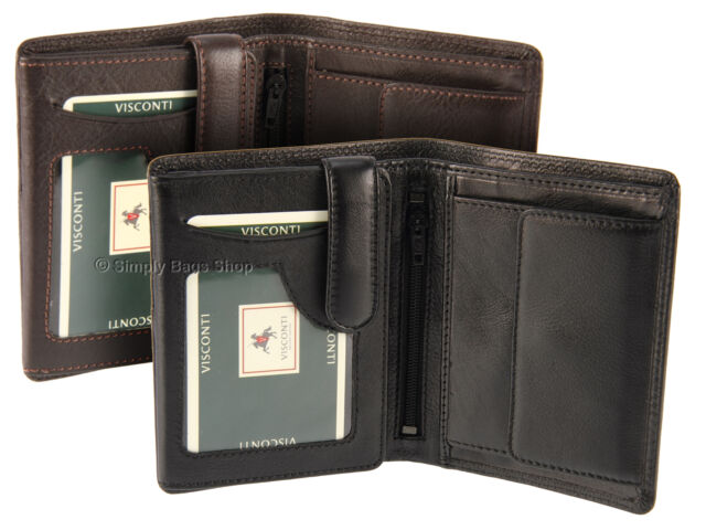 Leather Wallet By Visconti For Banknotes, Cards, ID, In Gift Box - Heritage HT11