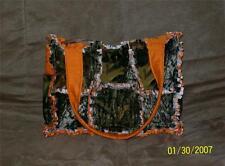 Mossy Oak Break up Camo Orange Hunting Rag Quilt Diaper Bag Tote Purse