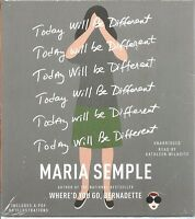 Today Will Be Different Sealed Maria Semple Audio Book Unabridged 6 Cds