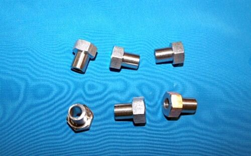 Adjustable bushing 6-pack for #2 V-groove brng RM2-2RS Stnls stl 3//8 OD x 1//4 ID