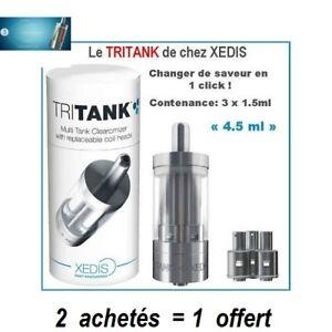 TRITANK-DE-XEDIS-Triple-saveur-clearomizer-PROMO-2-achetes-1-offert