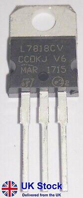 +18V Positive Voltage Regulator L7818CV L7818C LM7818 7818 TO-220 Pack of 1-50