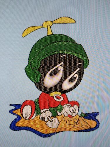 Personalized Embroidery Baby Blanket Marvin Martian