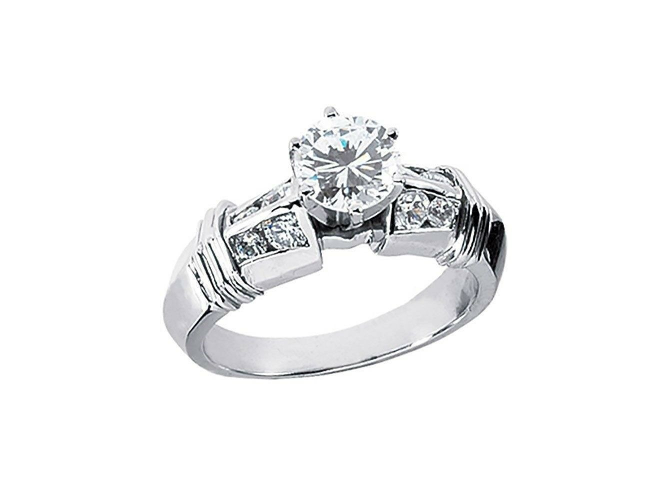 Natural 0.90Ct Round Cut Diamond Bridal Engagement Ring Solid 14k gold IJ I1
