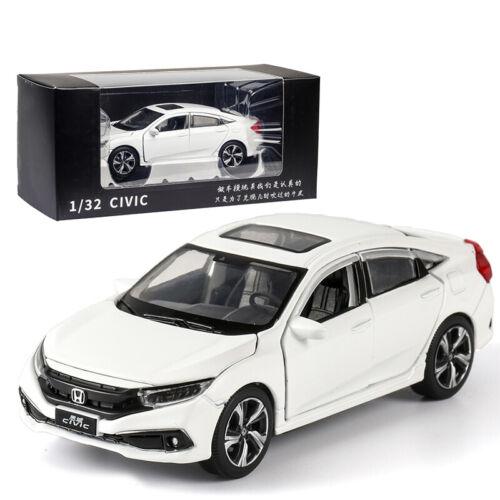 Honda Civic 1:32 Metall Die Cast Modellauto Spielzeug Auto Sammlung Weiß