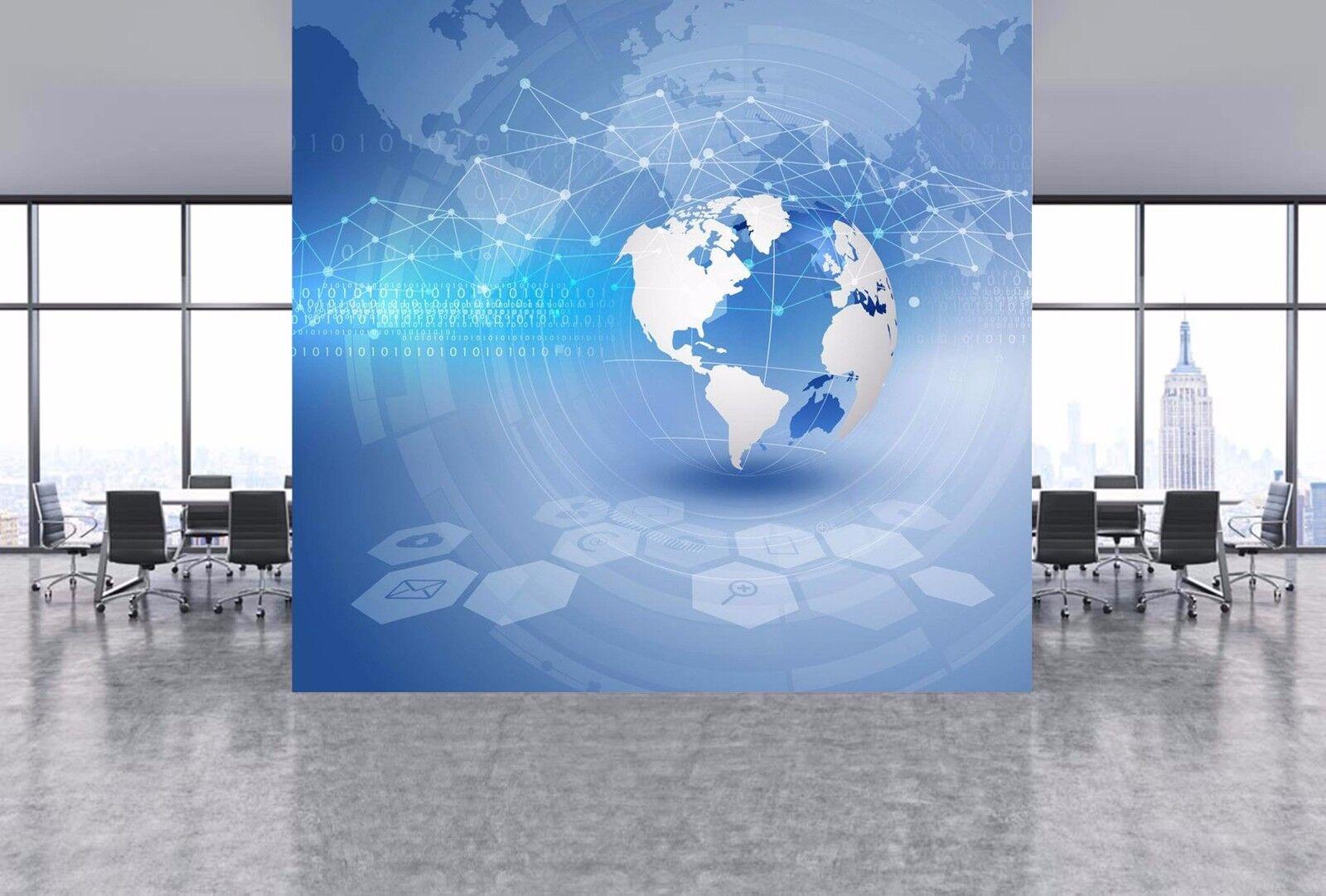 3D Bule Earth 61 Wallpaper Murals Wall Print Wallpaper Mural AJ WALLPAPER UK