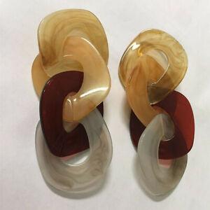 Trendy-New-Women-Acetate-Acrylic-Geometric-Statement-Drop-Earrings-Party-Jewelry
