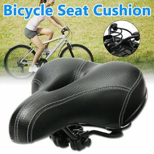 Wide Big Bum PU Saddle Seat Bike Bicycle Comfort Soft Foam Pad Cushion Cycling