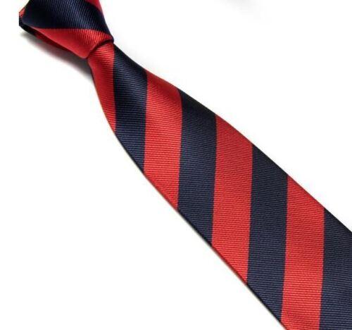 New Striped School Ties Block Stripe Club Tie Fancy Dress Various Colours